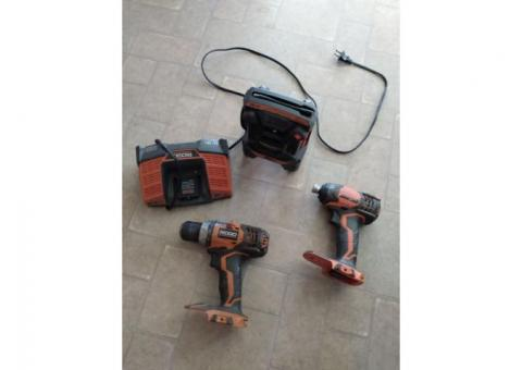 Impact drill charger radio